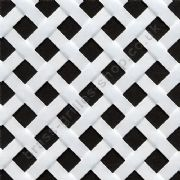 Woven Effect Diamond White Grille Powder Coated Aluminium Sheet 1000mm x 660mm x 2mm